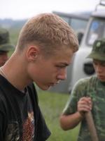 Сергейна фоне УАЗа
