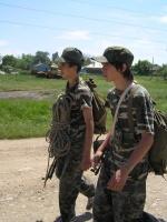 Саша и Никита на марше