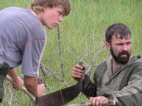 Заготвение бревин для переправы