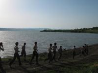 Пробежка к лагерю