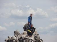Вова и Коля на скале