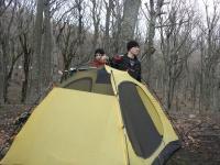 Ставим палатку.