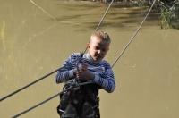 Кирюха переправляется через реку
