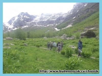 Выход на Софийский ледник
